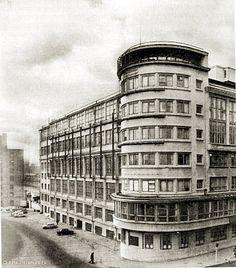 TsAGI (Central Aerohydrodynamic Institute) building Radio Street, Moscow Architects: A. Diesel Punk, Streamline Moderne, Retro Futuristic, Occult, 1920s, Steampunk, Scene, Geek, Victorian