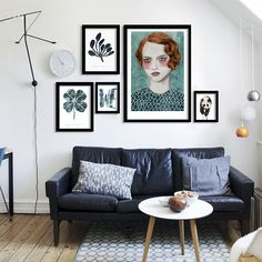 Nordic Watercolor plants art prints posters,animal on canvas wall picture for living room kids room modern home decor DP0156