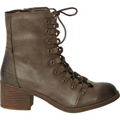 Billabong Women's March To The Sea Booties (330 RON) ❤ liked on Polyvore featuring shoes, boots, ankle booties, espresso, footwear, military boots, lace up ankle boots, lace up booties, lace up combat boots and combat boots