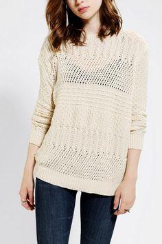 Kimchi Blue Stitch-Stripe Sweater - Urban Outfitters
