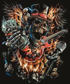 the dead sing Cow Skull Art, Skull Artwork, Skull Tattoo Design, Skull Tattoos, Skull Pictures, Art Pictures, Badass Drawings, Totenkopf Tattoos, Skull Wallpaper