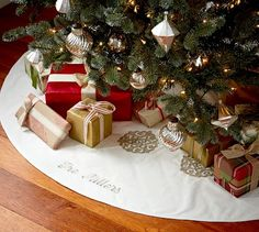 Gold & Silver Tree Skirt