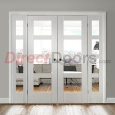 Image of Easi-Frame White Door Set, GWPSHA4L-COEOP3-838, 2005mm Height, 2364mm Wide.