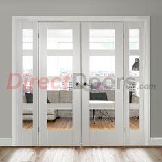 Image of Easi-Frame White Door Set, GWPSHA4L-COEOP3-838, 2005mm Height, 2364mm Wide.
