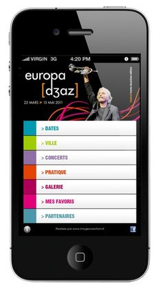 Europa Jazz Festival  | UX Design App iPhone Android applications