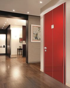 Flat Shiny Red Door with Crystals