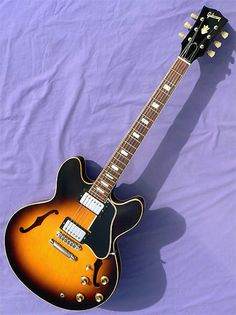 1966 Gibson ES-335TD: 12 String Conversion, Pat. Sticker Pickups, Stop Tail, Best Buy! | archtop.com | Reverb Gibson Electric Guitar, Factory Work, Small Wonder, Union Made, Body Size, Traditional Design, Cool Things To Buy, Sticker, Cool Stuff To Buy