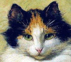 Best known for her paintings of cats and dogs, Henriette Ronner Knip was a Dutch painter in the 1800s.   http://www.artneedlepoint.com