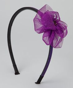 Take a look at this Purple Tulle Flower Headband by Shimmy Shimmy Bowtique on #zulily today!