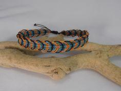 bracelet macramé multicolore pour homme : Bracelet par les-creations-du-sud