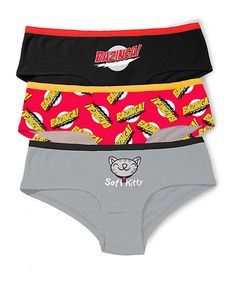 This Black & Gray Big Bang Theory 'Bazinga Brief Set - Women by The Big Bang Theory is perfect! #zulilyfinds