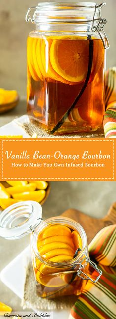 Have you ever tried an infused alcohol recipe? This vanilla bean orange infused … Have you ever tried an infused alcohol recipe? This vanilla bean orange infused bourbon is simple to put together and makes the best holiday cocktails. Bourbon Cocktails, Cocktail Drinks, Cocktail Recipes, Bourbon Liquor, Drinks Alcohol Recipes, Yummy Drinks, Alcoholic Drinks, Beverages, Liquor Drinks