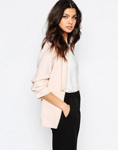 River Island Ruched Sleeve Blazer