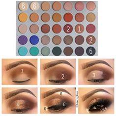 time Steps 3 & 4 listed below ➖➖➖➖➖➖➖➖➖➖➖➖➖ STEP 3 Jaclyn Hill Eyeshadow Palette, Morphe Eyeshadow, Makeup Morphe, Jaclyn Hill Palette, Makeup Dupes, Makeup Palette, Morphe 35o, Morphe Palette, Makeup Eye Looks