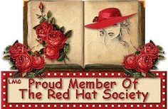 So pretty Red Hat Club, Red Hat Ladies, Wearing Purple, Red Hat Society, Art Clipart, Paint Shop, Red Hats, Sparklers, Textile Patterns
