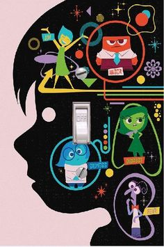 INSIDE OUT - Light switch Cover- Inside Out- Switch Plate Cover