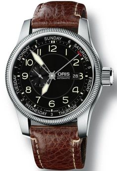 Oris Big Crown Small Second Pointer Day Leather #bezel-fixed #bracelet-strap-leather #brand-oris #case-depth-11-7mm #case-material-steel #case-width-44mm #clasp-type-hidden-folding-clasp #date-yes #delivery-timescale-4-7-days #dial-colour-black #gender-mens #luxury #movement-automatic #subcat-big-crown #supplier-model-no-01-745-7629-4064-07-5-22-77fc #water-resistant-100m