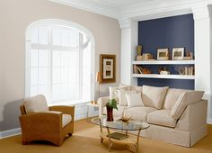 Browse through all of the exterior paint, interior paint and wood stains available from Behr, offering paints that are perfect for your next project. Behr Paint Colors, Room Paint Colors, Wall Colors, Living Colors, Paint Colors For Living Room, Interior Exterior, Interior Paint, Interior Design, Grey Exterior