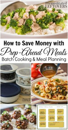 How to Save Money with Prep-Ahead Meals from Scratch - Buying meats in bulk when on sale and batch cooking the ingredients to use in meals saves money on groceries.