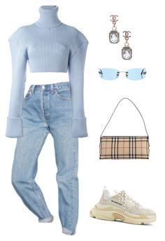 """latasha i'm sorry"" by senpaime ❤ liked on Polyvore featuring Urban Outfitters, Balenciaga, Jacquemus, Burberry, Chanel and pastelsweaters"