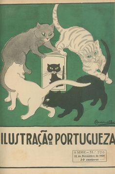 """Portuguese magazine """"Ilustração Portugueza"""" (November 22, 1920) - Cover illustration by Américo da Silva Amarelhe (Portuguese, 1892-1946)"""