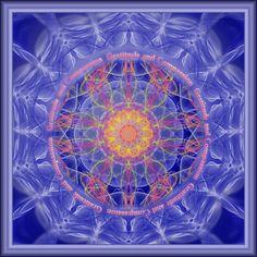 Compassion And Gratitude Mandala by Sarah Niebank Hoffman