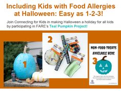 Join us in participating in FARE's Teal Pumpkin Project -- including kids with food allergies this Halloween is easy as 1-2-3! (more information here: http://www.connectingforkids.org/resources/Documents/Handouts/Teal_Pumpkin.pdf) #foodallergy #tealpumpkinproject @foodallergyfare