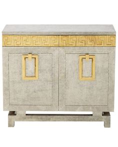 Demetria Gold Metal Greek Key Chest