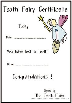 Tooth Fairy note ;)