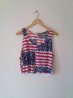 American Flag Cropped Top by thePROFESSAVANESSA on Etsy, $29.00