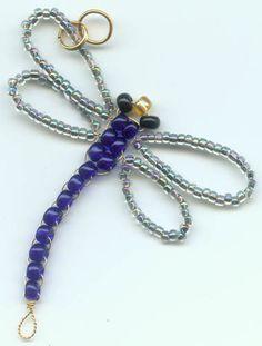 Dragonfly Suncatcher w/Iris Blue Wings & Cobalt Body