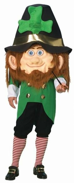 4 clovers and leprechaun costumes for halloween
