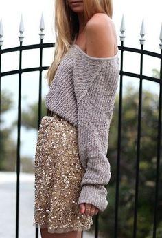 Knit + sequins
