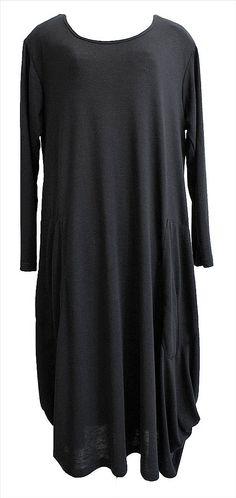 AKH Fashion Lagenlook elegantes langes Kleid in schwarz XL Mode bei…