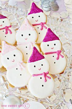 snow lady cookies