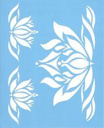 stencil de flores - Buscar con Google