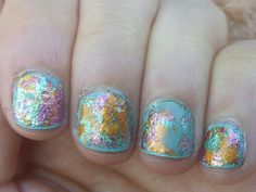 Metallic foil nails!
