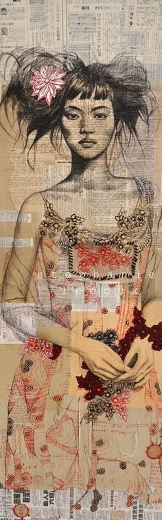 littleg:  (via Art, pens and paint / Stephanie Ledoux, newspaper girl)