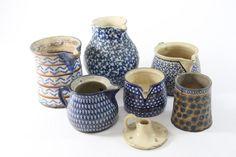 7-tlg Keramik Konvolut Kannen Tasse & Kerzenhalter Bunzlau ? 19./20.Jhd | eBay, sold for EUR 128,89
