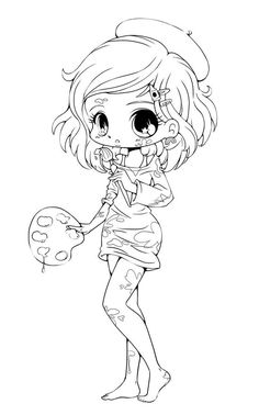 chibi Coloring Pages | Free Printable Chibi Coloring Pages For Kids
