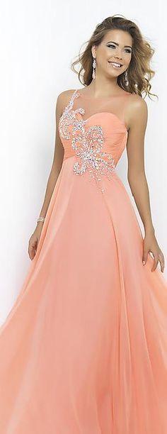 Cute Natural Floor Princess Sleeveless Chiffon Evening Dress Sale prom dresses prom dress #promdress