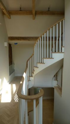 Hand Carved Spiral Staircase   Classical new build by contractors R.W.Armstrong Ltd and the respected ...