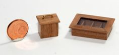 Teekästchen, Teedose in 1:12 Design & handcrafted by Kreamini