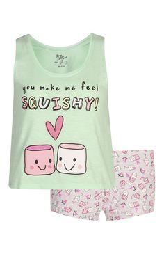 Primark - Pijama top de alças calções Marshmellow