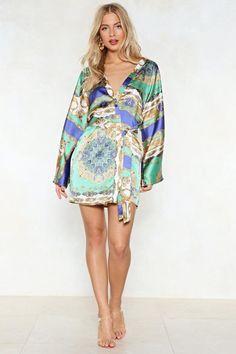 b24a64101a That Ain t the Scarf of It Kimono Dress