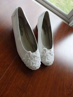 Pearl Lace Shoes Lace wedding shoes wedding shoes by LovelyBride2B