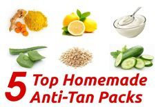Top 5 Homemade Anti-Tan Packs