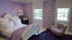 White Bed, Black Tables, Dresser. Lavender BedroomsPurple ...