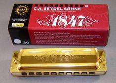 24KT Gold Plated Seydel 1847 Classic Standard Richter Harmonica