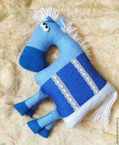 Купить Подушка-игрушка Лошадка - разноцветный, лошадь игрушка, подушка игрушка, подушка декоративная, лошадка